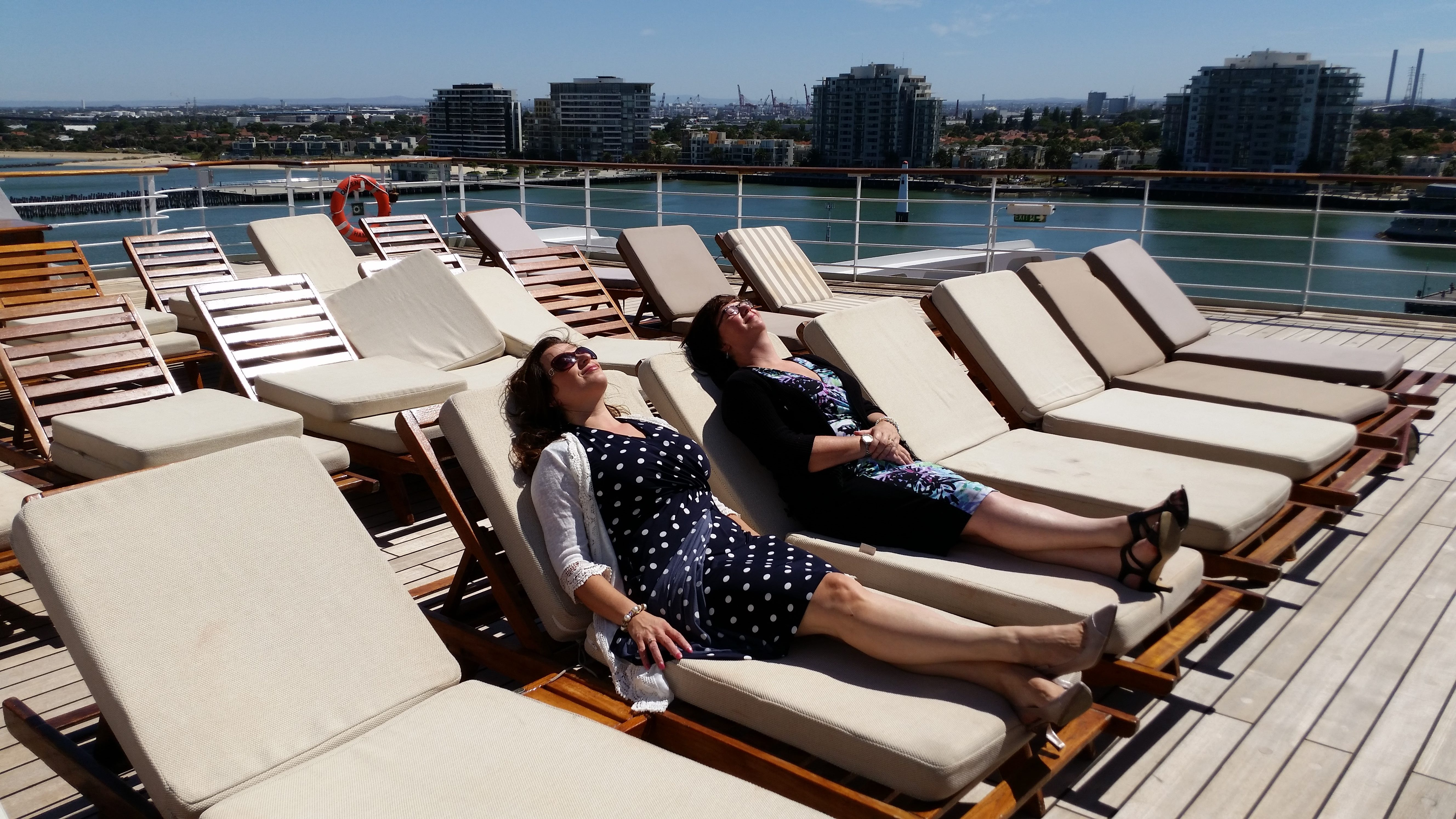 Queen Mary 2 - Author Visit - Dorothy Adamek on chaise sofa sleeper, chaise furniture, chaise recliner chair,